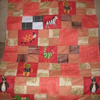 Patchwork Baby Blanket: Red and Orange FOR COMIC RELIEF