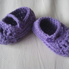Purple Hand Crochet Baby Summer Sandals FOR COMIC RELIEF