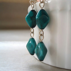 Teal earrings FOR COMIC RELIEF