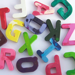 Personalised name letter crayons - Aileen