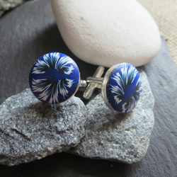 Royal blue blaze Cufflinks