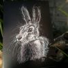 Original wild hare design, quality printed greetings card with envelope. A6. 2.