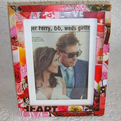 UPCYCLED VALENTINES PHOTO FRAME
