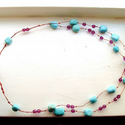 Howlite Turquoise Wire Collar OOAK