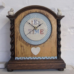 'Tea Time' Vintage Clock No.2