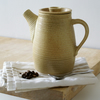 Tall stoneware pottery teapot - wheel thrown and glazed in natural brown