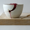 Made to order - Stoneware pottery yarn bowl with little star hook