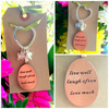 Live well, Laugh often, Love much  - Keyring Bag Charm