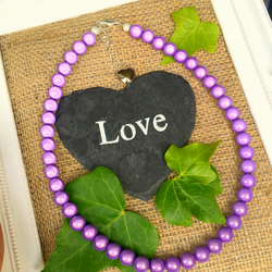 Purple Illusion Bead Necklace - Truly Eyecatching