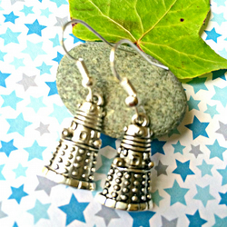 Dalek Dr Who Earrings