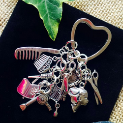 Hairdressing themed Keyring