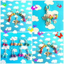 Colours of the Rainbow Earring Set with Free Charm