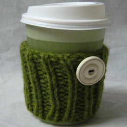 moss green coffee cup cosy