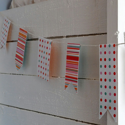 Spots and Stripes Paper Bunting - 3m length