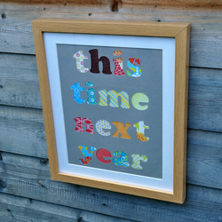 SALE - This Time Next Year - Framed Collage Picture