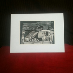 """Egyptian art"" handmade, art-print greetings card, suitable for any occasion"