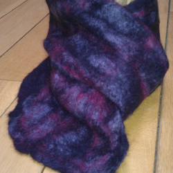 'Purple sunset' felted scarf
