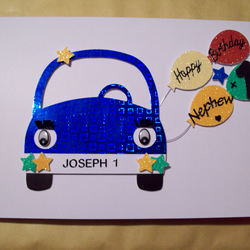 Personalised boys car 1st birthday card song folksy personalised boys car 1st birthday card songrandsonbrothernephewcousin bookmarktalkfo Images