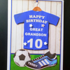 3D Personalised Male Birthday Catd, Boy, Son,Grandson,Brother, Nephew, Football