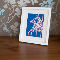 Carousel linocut - four colour ways available