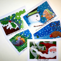 Dotty Christmas range of cards - Pack of 5