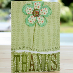 Handmade Floral Thank You Card