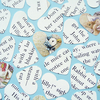 100 Beatrix Potter Peter Rabbit Heart Confetti - Baby Birthday Christening Party