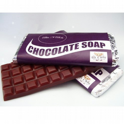 Chocolate Soap Bar- chocolate soap with a chocolate scent- Vegan