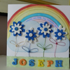 New Baby Boy Personalised Rainbow Card
