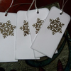 Pack of Snowflake Christmas Gift Tags