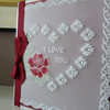Personalised Ruby Rose Heart Parchment Card