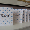 Pack of 5 Heart Thank You Cards