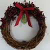 Willow Red Berry Christmas Wreath