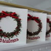 Pack of 4 Wreath Christmas Cards