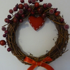 Red Berry Heart Christmas Wreath