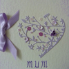 Flower Heart Mothers Day Card
