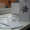 Pack of 4 snowflake Christmas gift tags