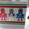 Personalised robots children's birthday card