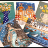 A set of five postcards