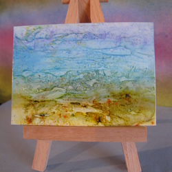 Abstract Seaside Scene ACEO