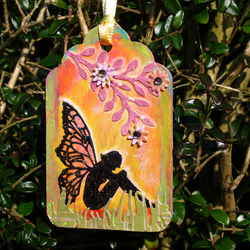 Garden Fairy, Painted Wooden Tag