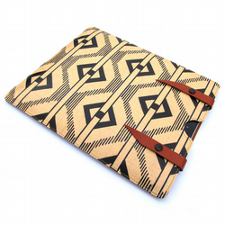 Leather iPad case - 1900's Chevron Graphic