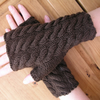 Hand knitted ladies fingerless gloves wrist warmers