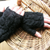Charcoal fingerless gloves  wrist warmers
