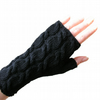 Wrist Warmers Black Merino Wool