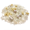 Glass Bead Mix - Winter Candy Mix - White, Cream, Pink (GB0023)