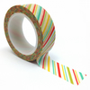 Candy Stripes Patterned Washi Tape 15mm x 10m Roll WT0078