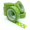 Spring Green With White Dots Washi Tape 15mm x 10m Roll WT0076