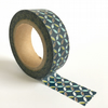 Petrol Blue Circles Patterned Washi Tape 15mm x 10m Roll WT0043