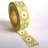White Doily Lace Pattern on Green Washi Tape 15mm x 10m Roll WT0032